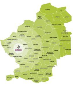 Carte du Douaisis