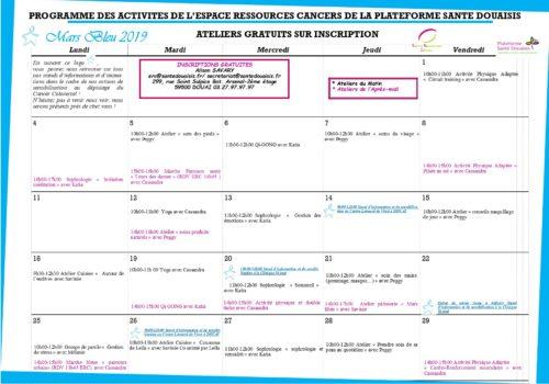 Calendrier ERC Mars bleu 2019