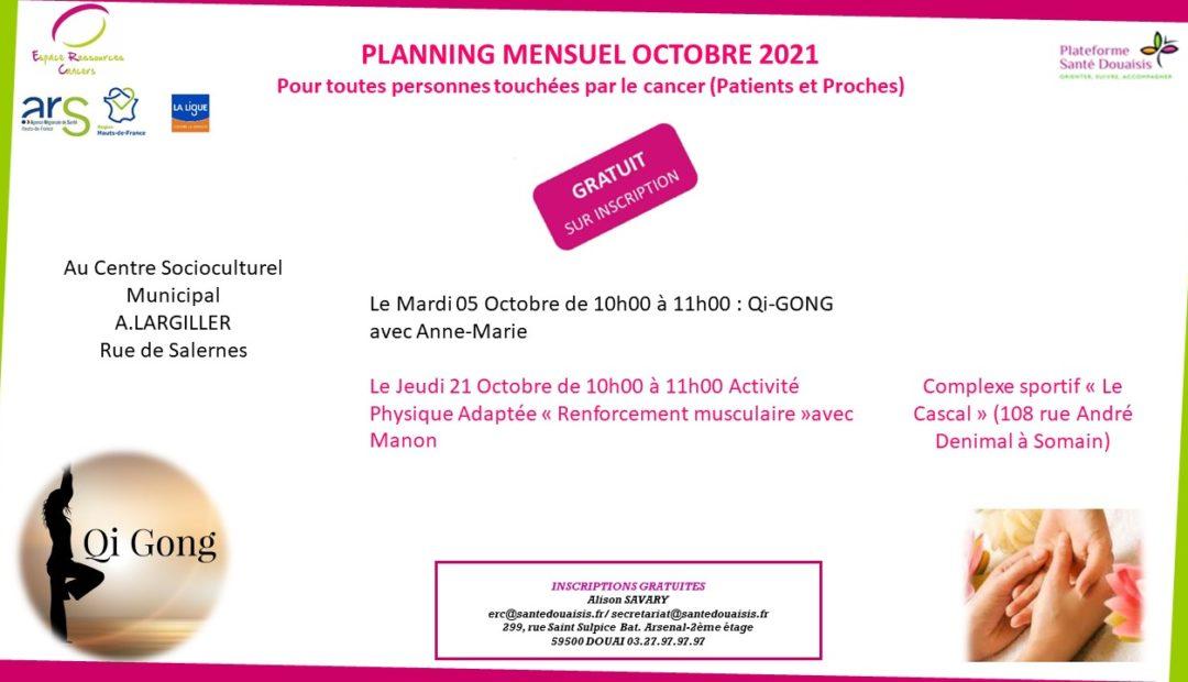planning ERC Somain Octobre 2021