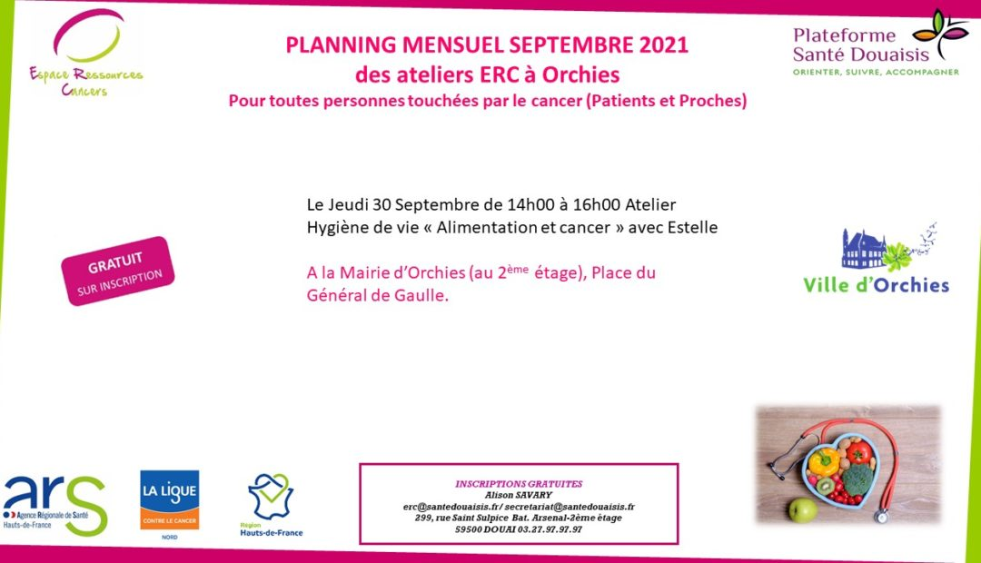 planning Orchies Septembre 2021