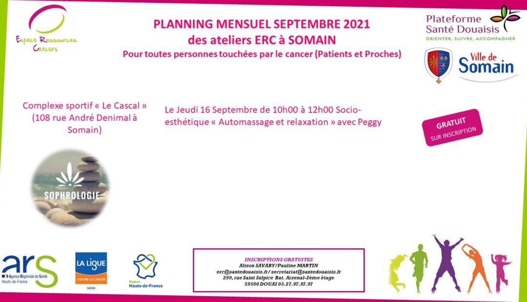 planning Somain Septembre 2021
